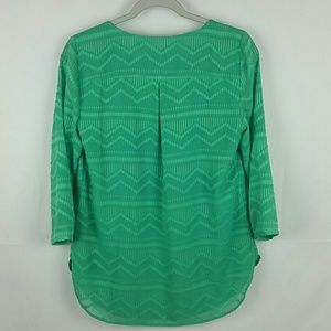 Talbots Tops - Talbots bright green blouse size S